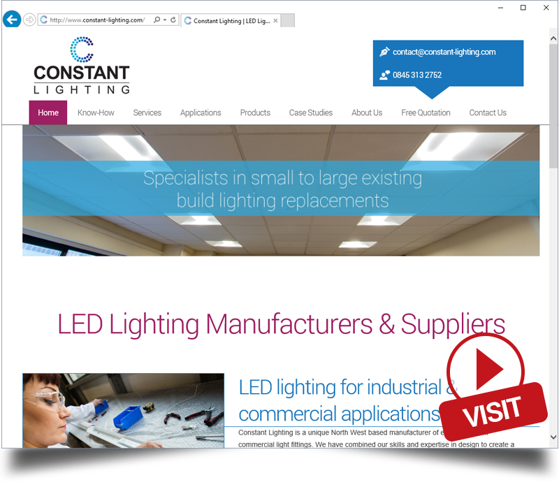 Constant Lighting Website