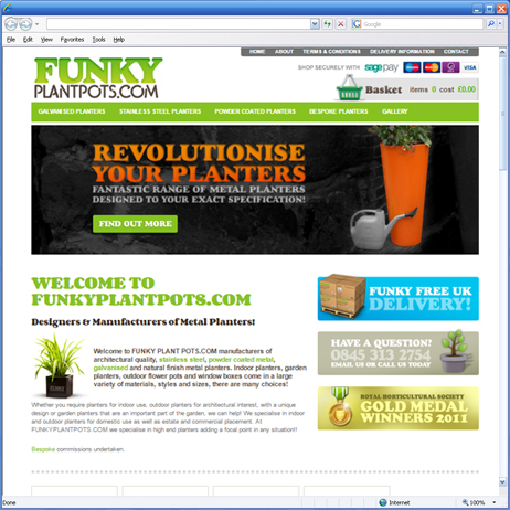 Funky Plant Pots launches it's first website