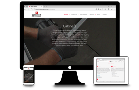 Constant Manufacturing launch new website