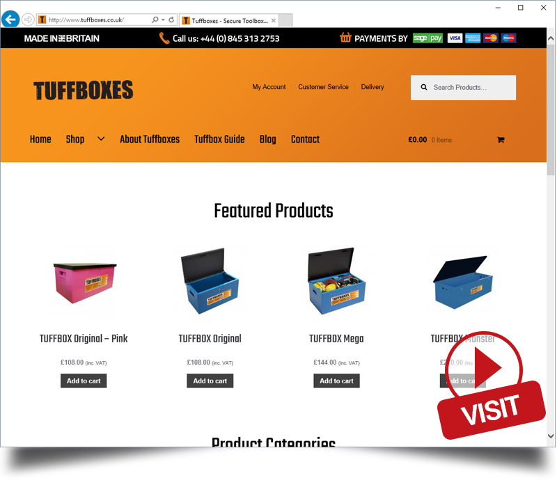 Tuffboxes Website