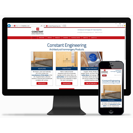 Constant Engineering launched it's new catalogue website