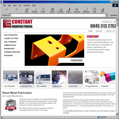 Constant Manufacturing launched it's first website