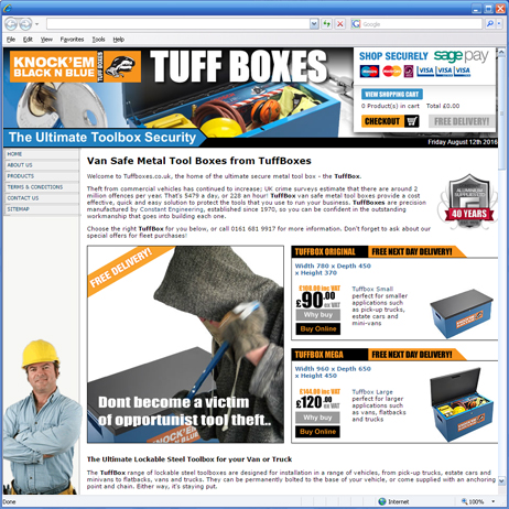 Tuffboxes launches it's first website