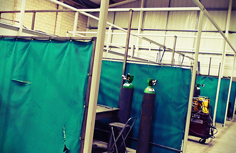 Dozen new welding bays installed into new factory building